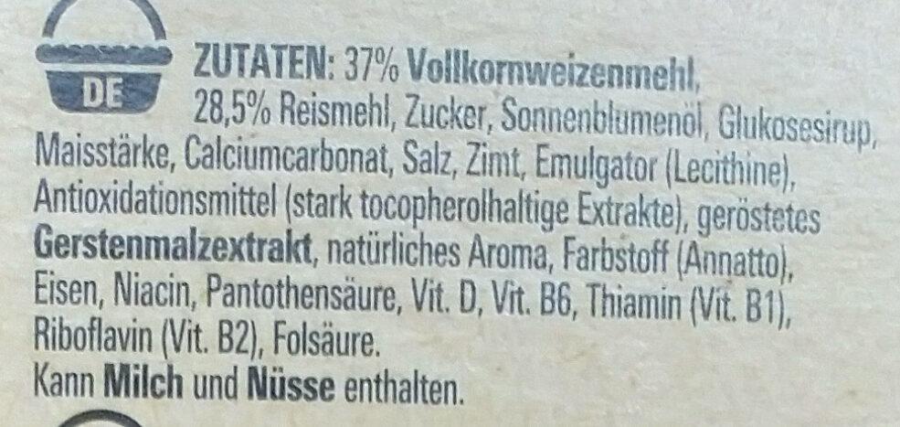 Cini Minis - Ingredients - de
