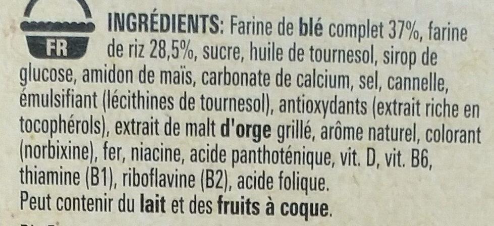 Cini Minis - Ingrédients - fr