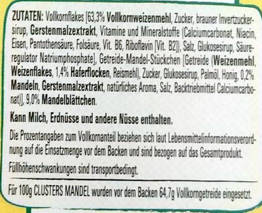 Clusters Mandel - Ingrediënten - de