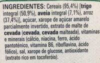 Fitness aveia - Ingredientes - fr