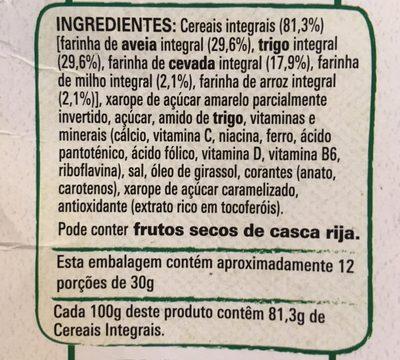 Cereais Nestle Cheerios - Ingredientes