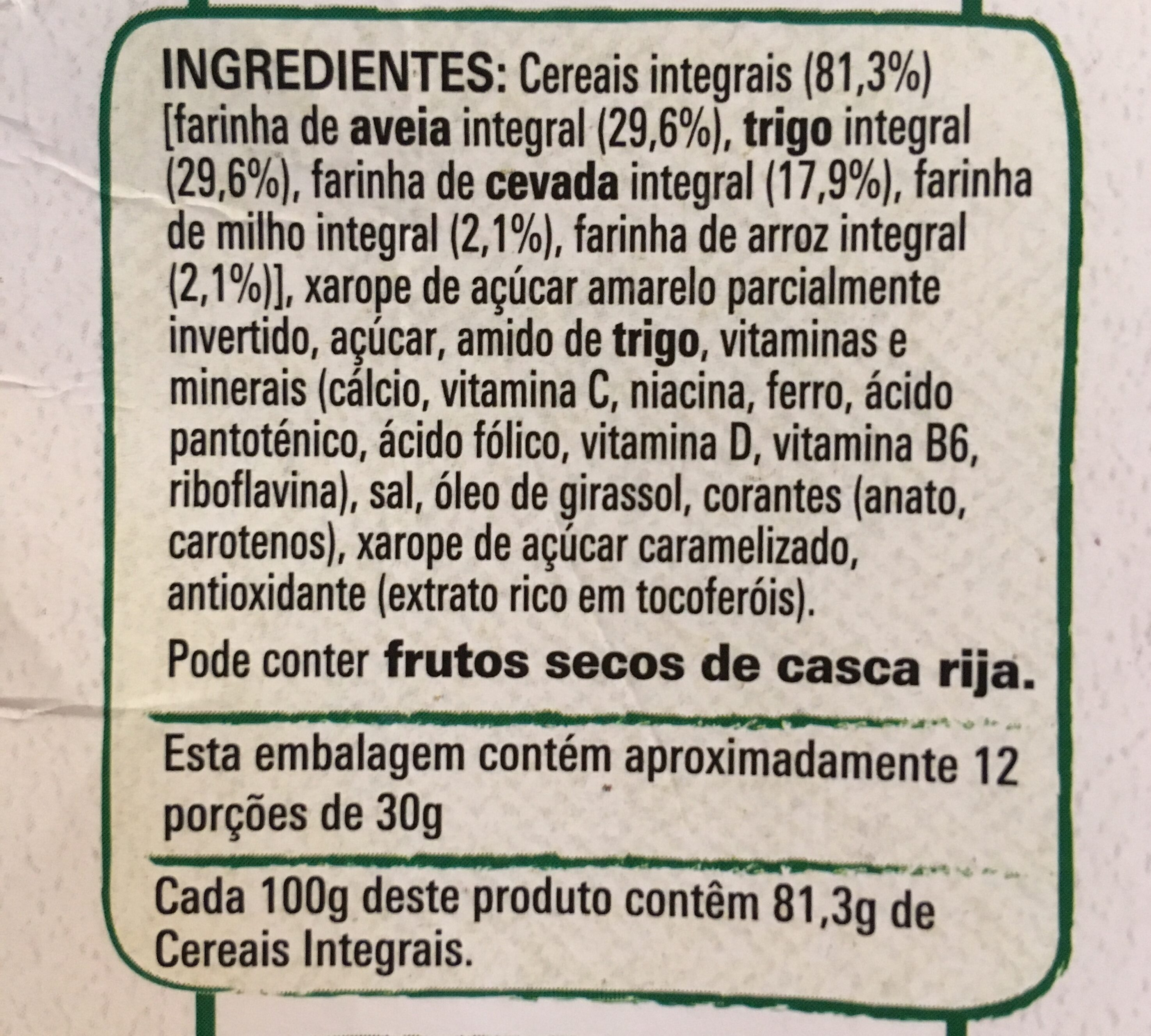 Cheerios - Ingredientes - pt