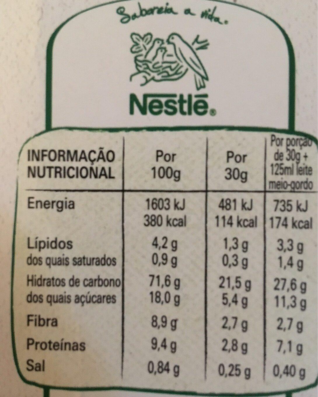 Cheerios - Información nutricional - pt