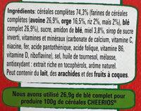 Cheerios miel et 5 Céréales complètes - Ingredients