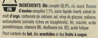 Fitness nutritious energy - Ingrédients - fr