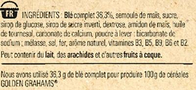 NESTLE GOLDEN GRAHAMS Céréales - Ingredienti - fr