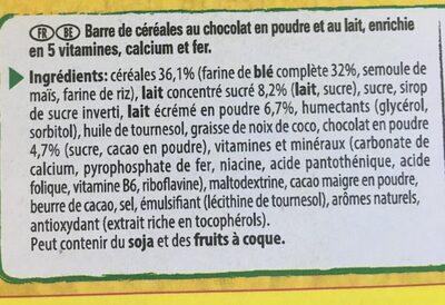 NESQUIK Barres de Céréales - Ingredients - fr
