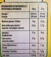 NESQUIK Barres de Céréales 6 x 25g - Valori nutrizionali - fr