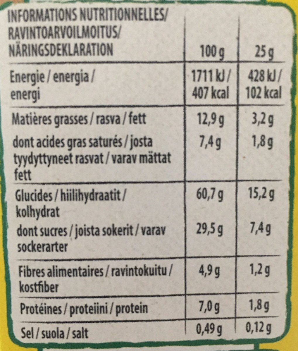 Nesquik - Voedingswaarden