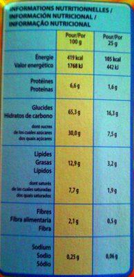 Barres de céréales Golden Grahams - Voedingswaarden - fr