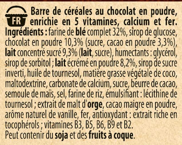 NESTLE CHOCAPIC Barres de Céréales 6x25g - Ingrédients - fr