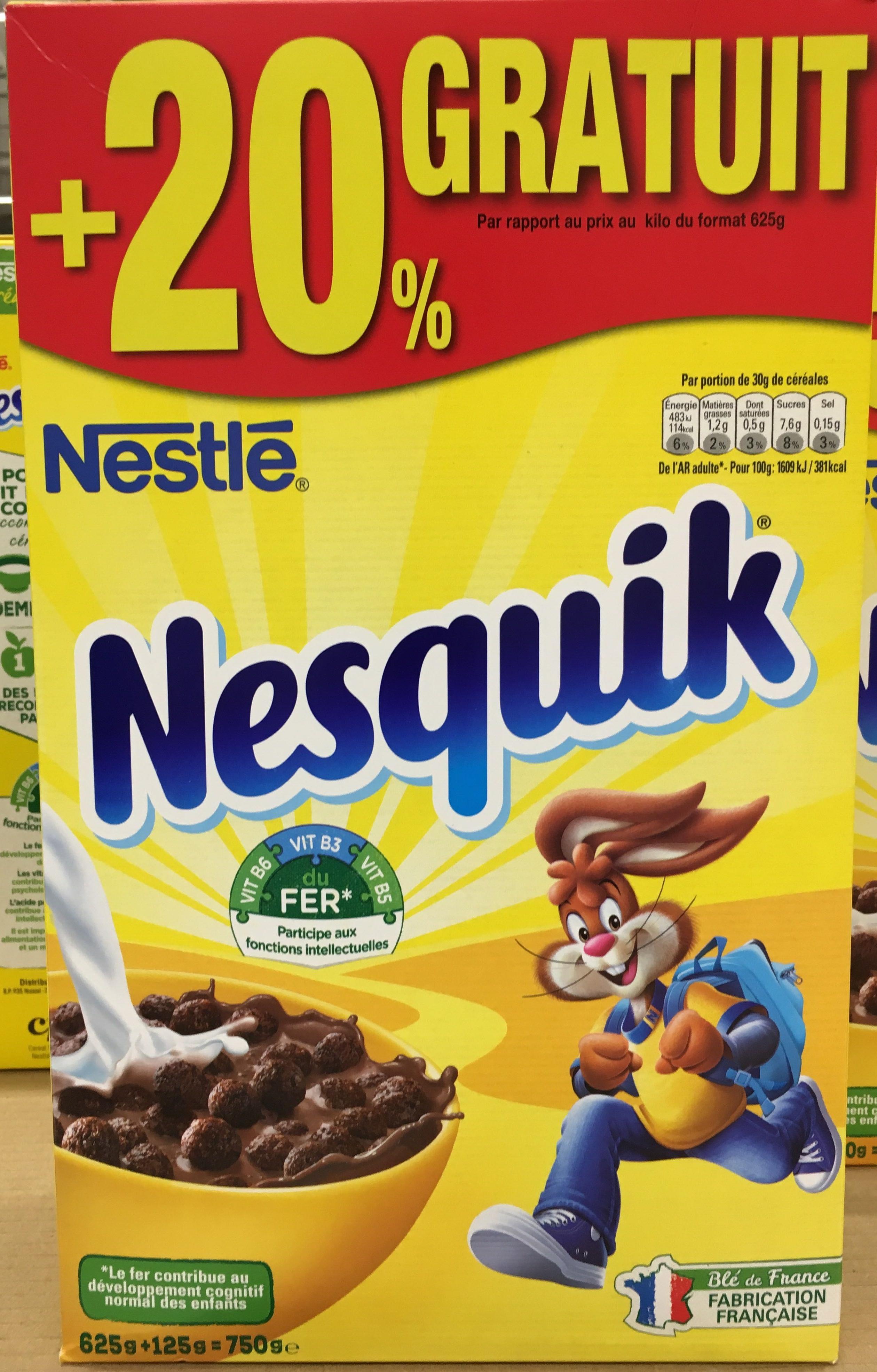 Nesquik 20 gratuit nestl 750 g for Produit cuisine
