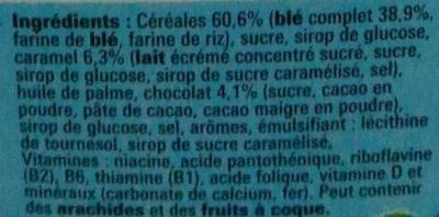 Céréales Lion caramel et chocolat - Ingrédients