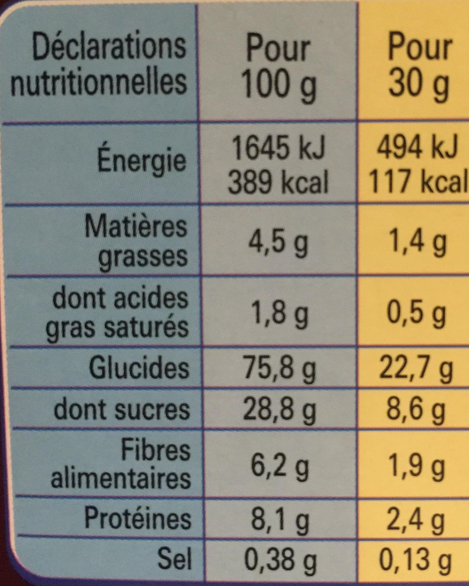 Chocapic - Voedingswaarden - fr