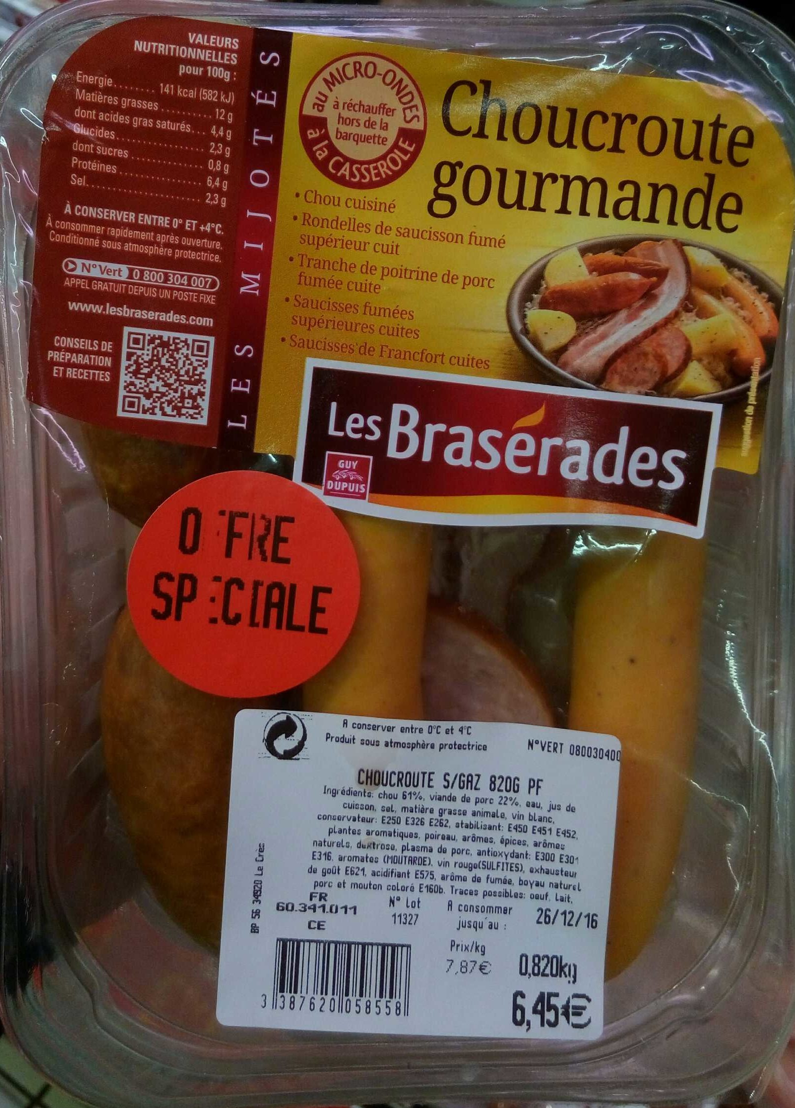 Choucroute gourmande - Product