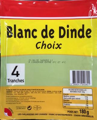 Blanc de Dinde (Choix) 4 Tranches - Product
