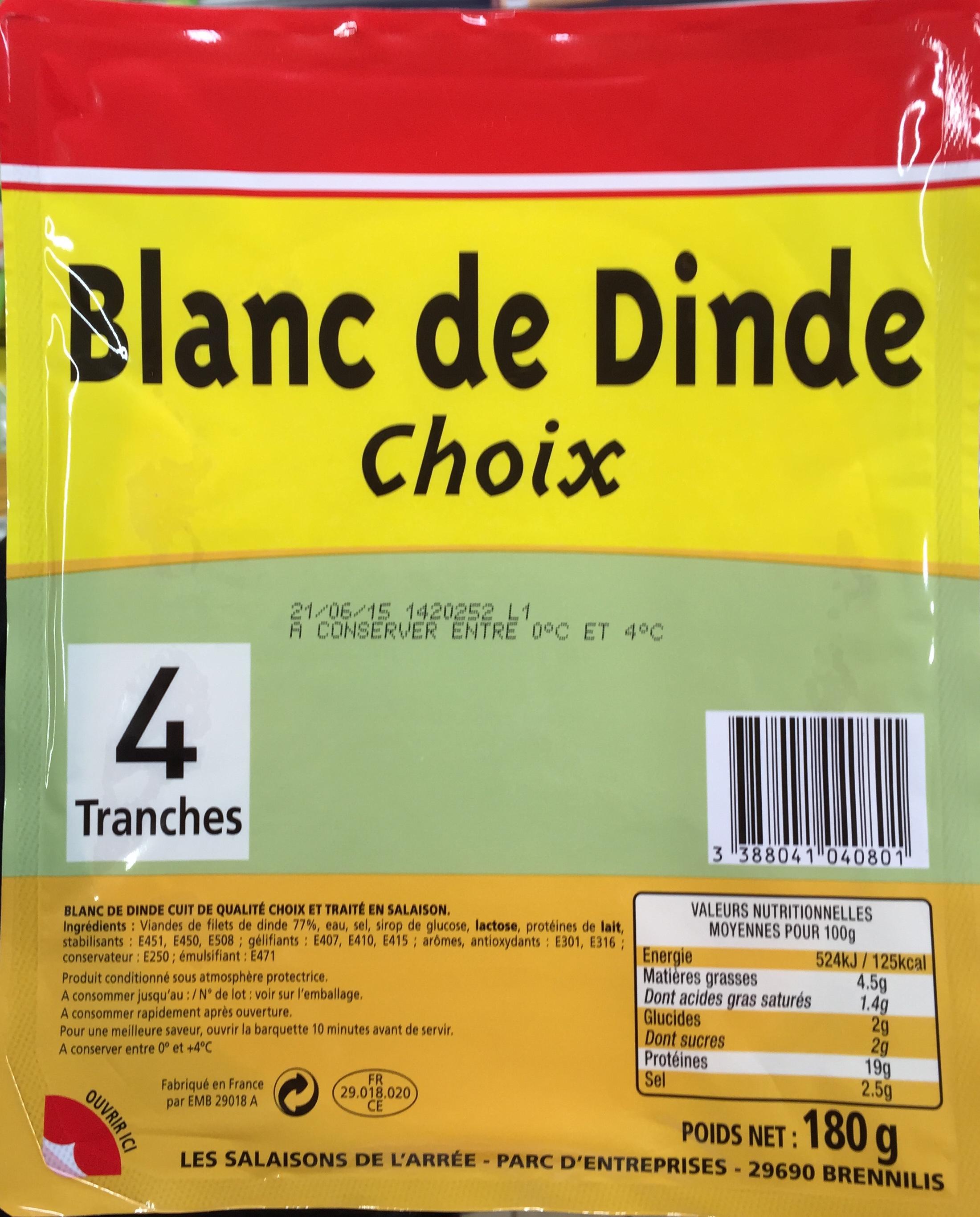 Blanc de dinde choix 4 tranches sans marque 180 g - Cuisiner blanc de dinde ...