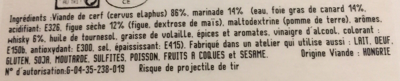 Pavés de Cerf Figues et Foie Gras - Ingrédients