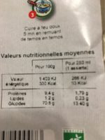 Potage à L'ortie - Nutrition facts