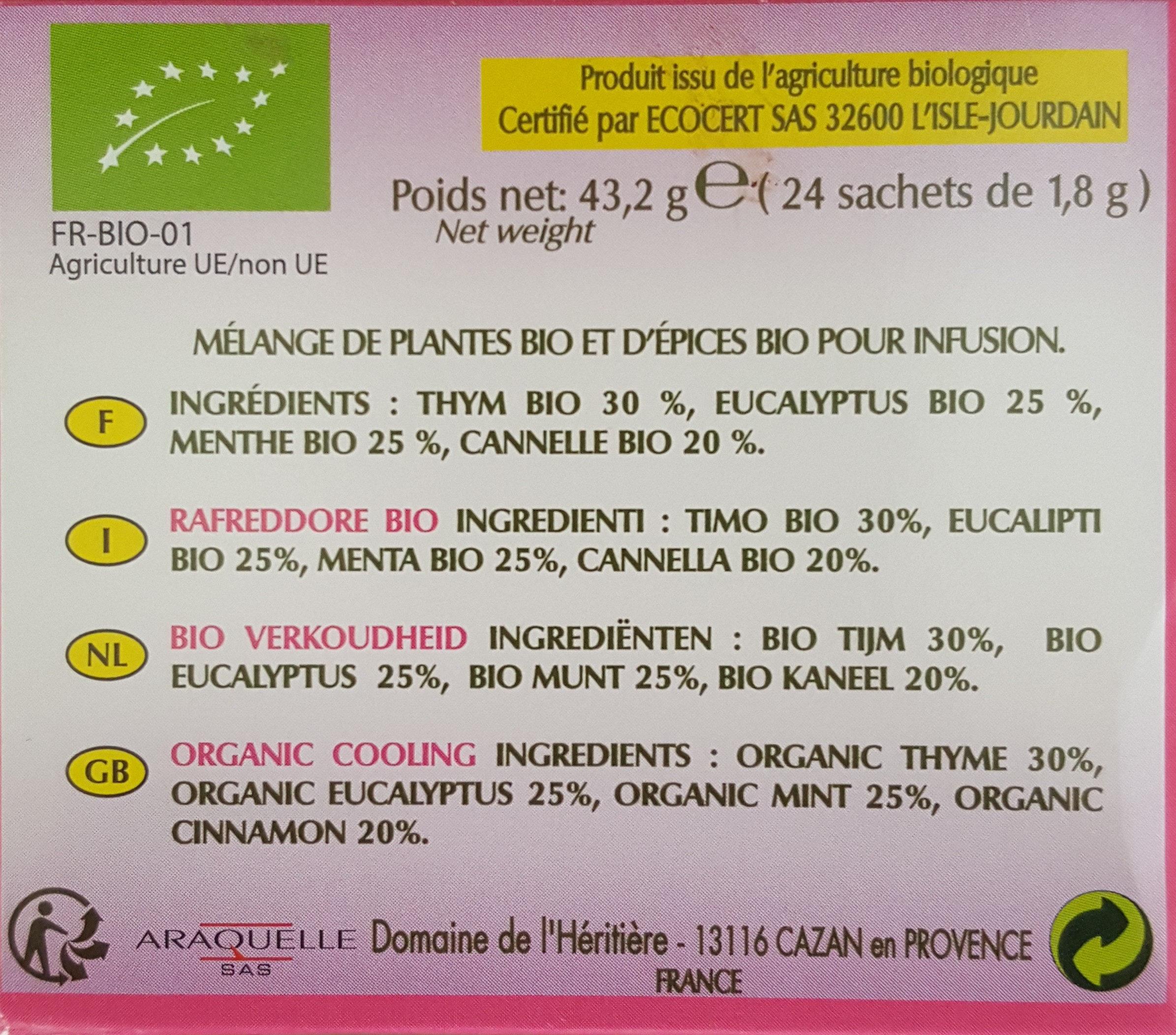Tisane BIO - Ingrediënten