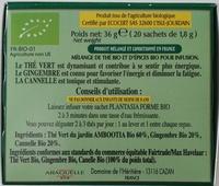 Thé vert Bio Forme - Ingredienti - fr