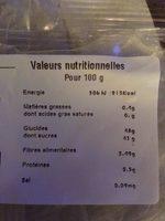 Abricots semi secs - Voedingswaarden - fr