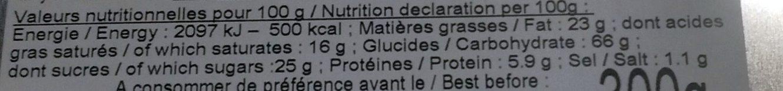 Assortiment de Biscuits & Palets - Coffret métallique : J'♥ Douarnenez et sa côte by Ty-Gwenn ! - Informations nutritionnelles - fr