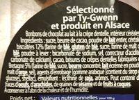 Croustillants à la Crêpe Dentelle de Bretagne Chocolat au Lait - Ingrédients - fr