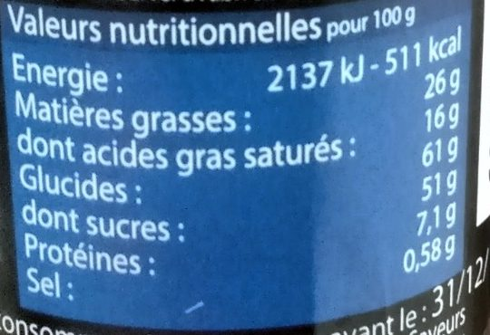 Croustillants à la Crêpe Dentelle de Bretagne Chocolat au Lait - Informations nutritionnelles - fr