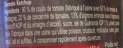 Ty-Ketchup - Ingrédients - fr