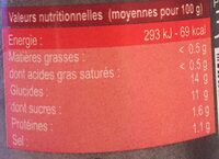 Ty-Ketchup - Informations nutritionnelles - fr