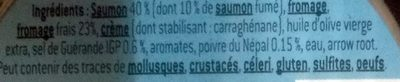Mousse de Saumon au fromage frais et poivre du Népal - Ingrédients