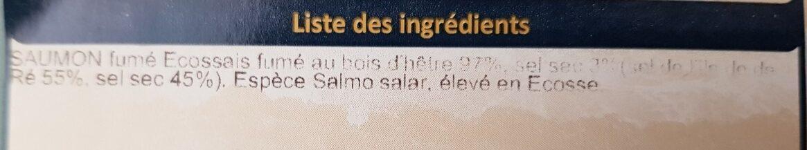 Saumon fumé d Écosse - Ingredients - fr