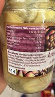 Krini Cœurs d'artichauts dans l'eau - Ingredienti - fr
