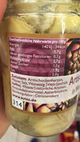 Krini Cœurs d'artichauts dans l'eau - Informazioni nutrizionali - fr