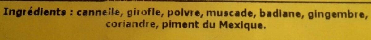 Épices vin chaud - Ingrediënten