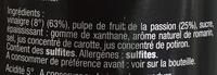Spécialité de vinaigre aux fruits de la passion (Acidité 5°) - Ingrédients