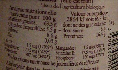 Purée de noisette - Informations nutritionnelles - fr