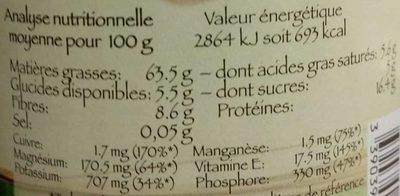 Purée noisettes - Informations nutritionnelles - fr