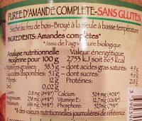 Purée Amande Complete - Informations nutritionnelles