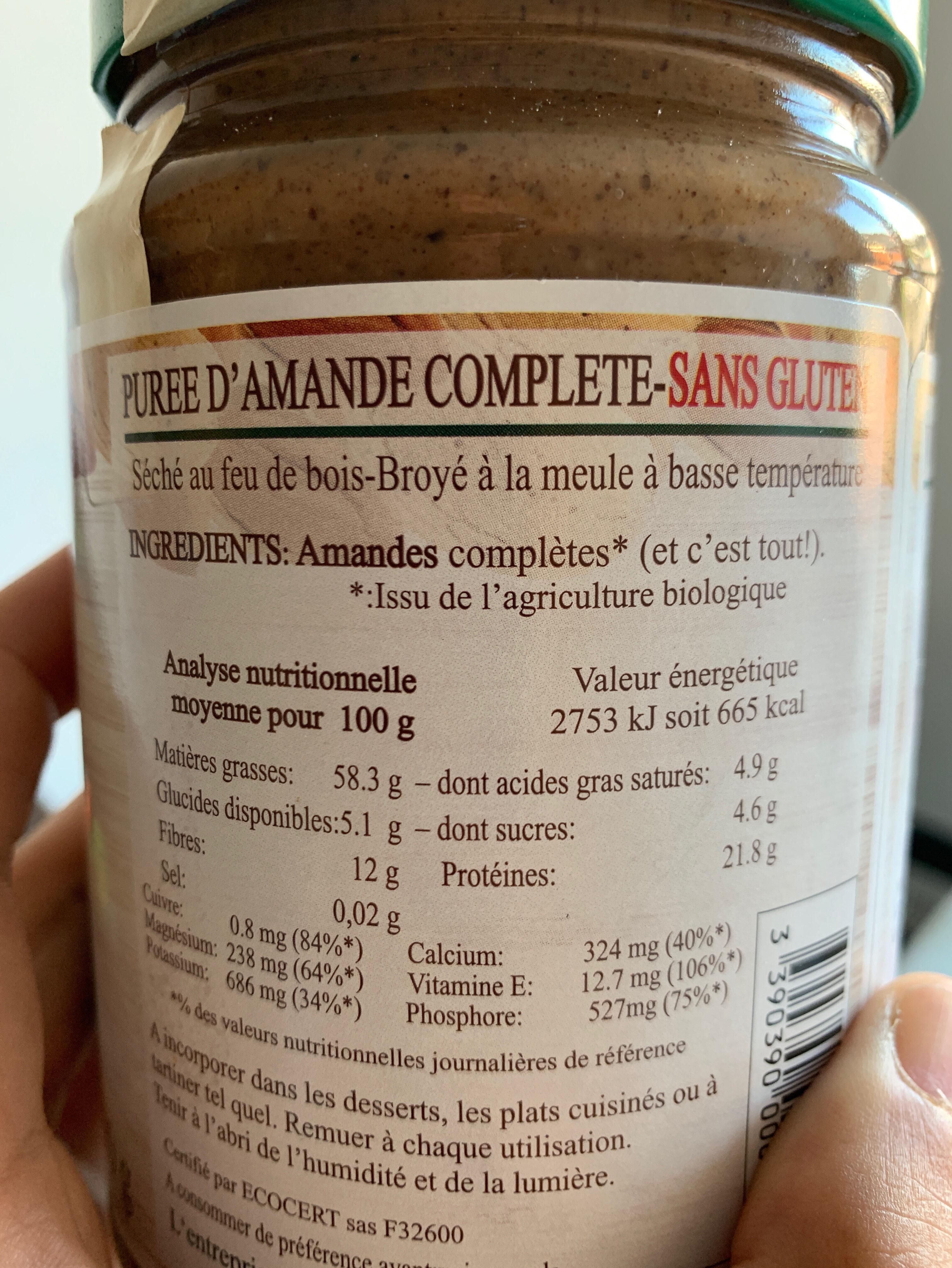 Purée amande complète - Ingredients - en