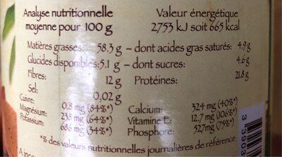 Purée amande complète - Valori nutrizionali - fr