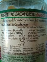 Purée cacahuète - Informations nutritionnelles - fr
