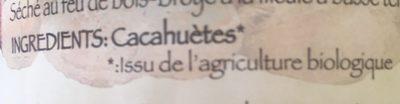 Purée cacahuète - Ingrediënten