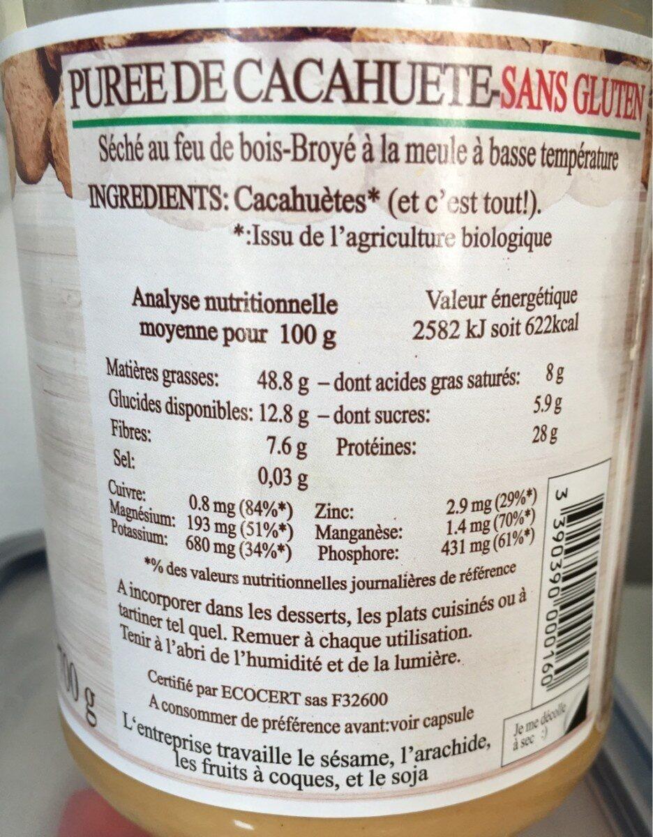 Purée cacahuètes - Informations nutritionnelles - fr