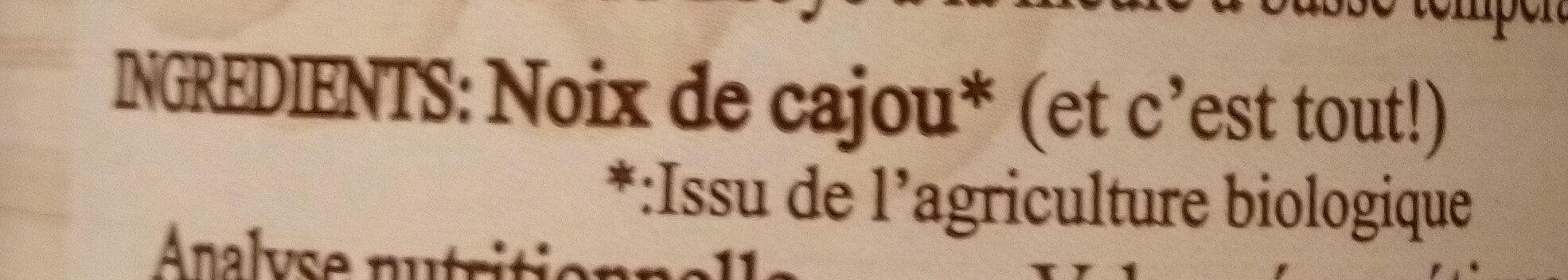 Purée Noix de cajou - Ingrédients - fr