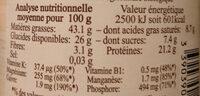 Purée Noix de cajou - Informations nutritionnelles - fr