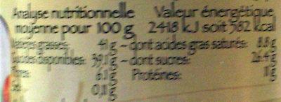 Pâte à tartiner KOKOLO Noisette-Noix de coco - Informations nutritionnelles - fr