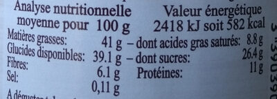 Pâte à tartiner KOKOLO Noisette-Noix de coco - Voedingswaarden - fr