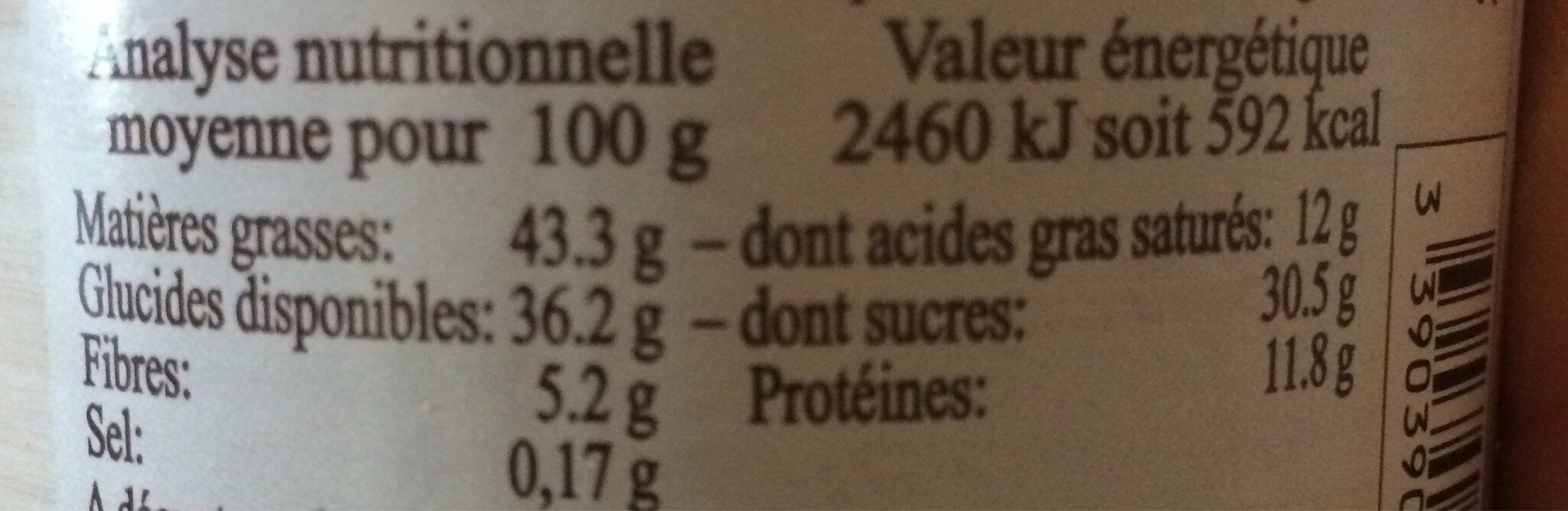 Chocolade Crunchy - Informations nutritionnelles